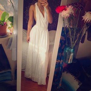 Free people backless cotton maxi